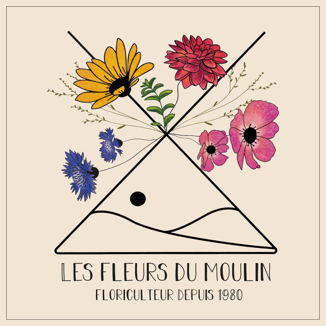 logo les fleurs du moulin floriculteur français